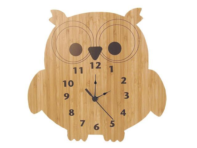 Trend Lab Owl Shaped Bamboo Wall Clock