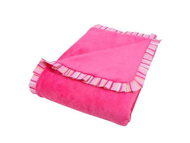 Trend Lab Savannah Ruffle Trimmed Receiving Blanket - Pink