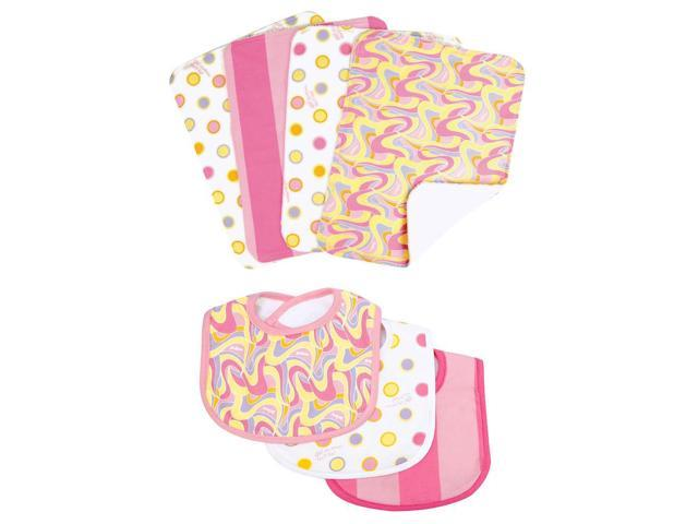 Dr. Seuss by Trend Lab Pink Oh, the Places You'll Go! 3 Pack Bib & 4 Pack Burp