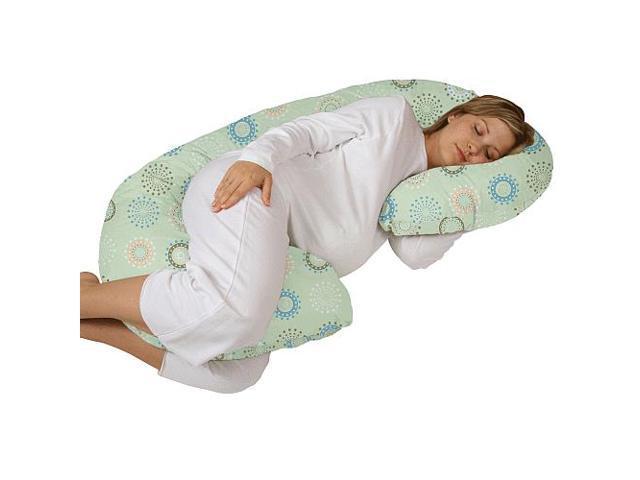 Leachco Snoogle Chic Total Body Pillow Green Newegg Com