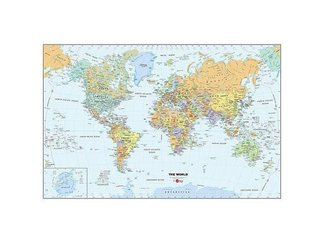 WallPops Wall Decals World Dry Erase Map