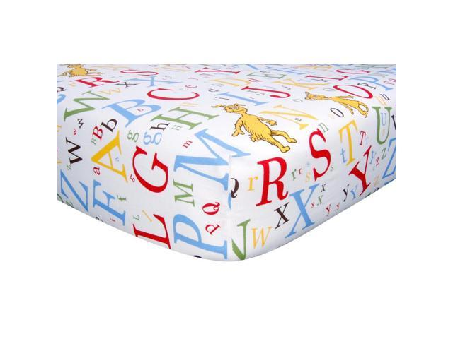 Trend Lab 30031 Seuss ABC Crib Sheet