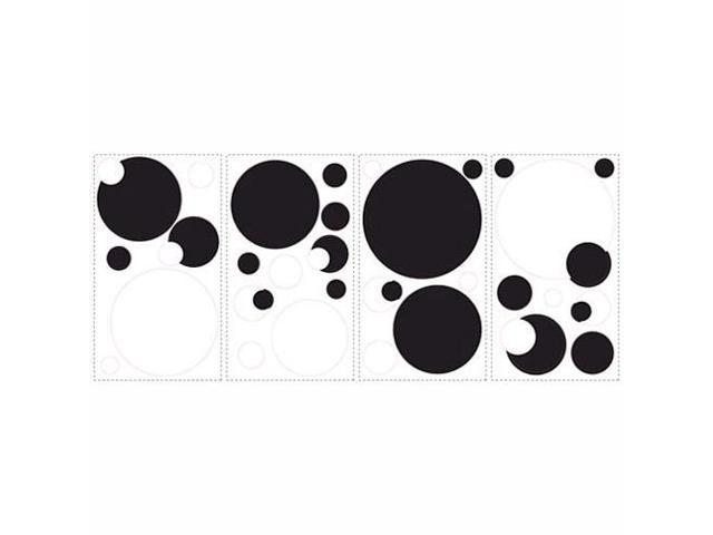 RoomMates Black and White Chalkboard Dots Peel & Stick Wall Decals