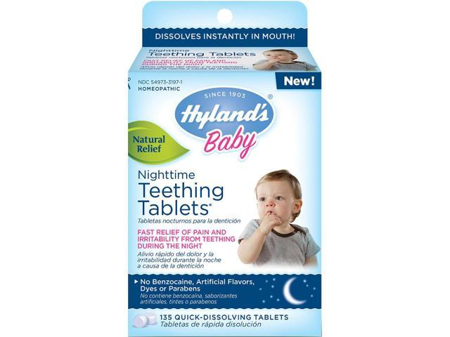 Hyland's Baby Nighttime Teething Tablets, 135 count - Newegg.com