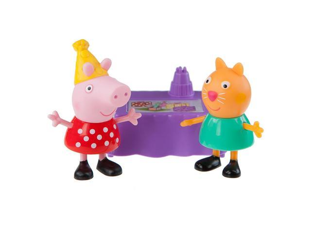 Peppa Pig and Candy Cat Birthday Party 2 Pack Figures