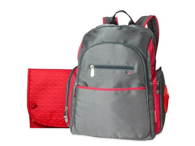 fisher price ripstop backpack diaper bag grey red. Black Bedroom Furniture Sets. Home Design Ideas