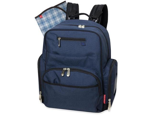 fisher price blue denim deluxe backpack diaper bag. Black Bedroom Furniture Sets. Home Design Ideas