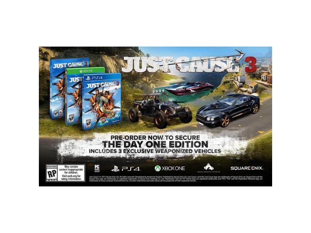 just cause 3 one day edition for xbox one. Black Bedroom Furniture Sets. Home Design Ideas