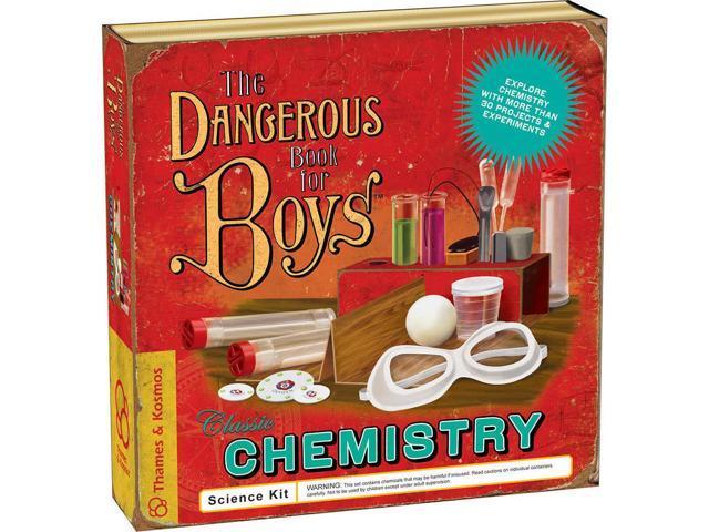 Thames & Kosmos Dangerous Book for Boys Classic Chemistry Science Kit