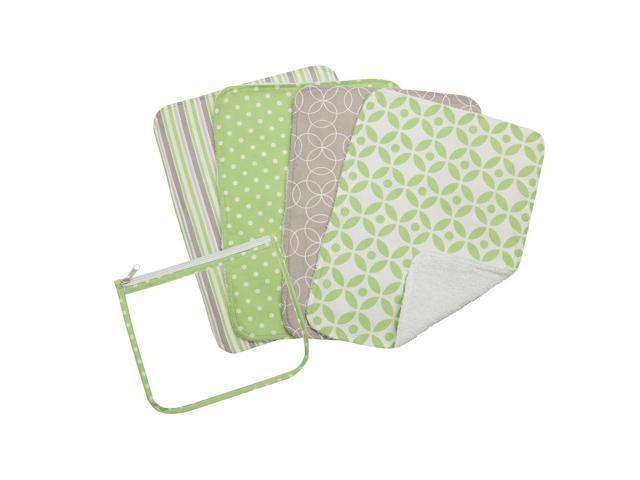 Trend Lab Lauren Zipper Pouch and 4 Burp Cloth Gift Set