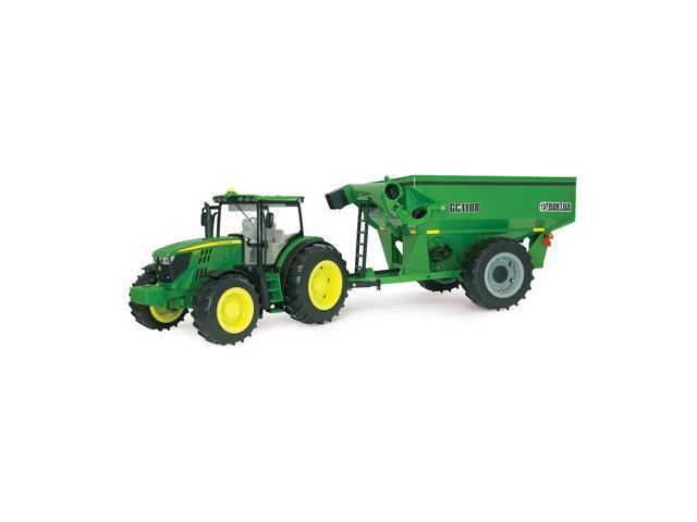 John Deere 6210R Tractor with Grain Cart