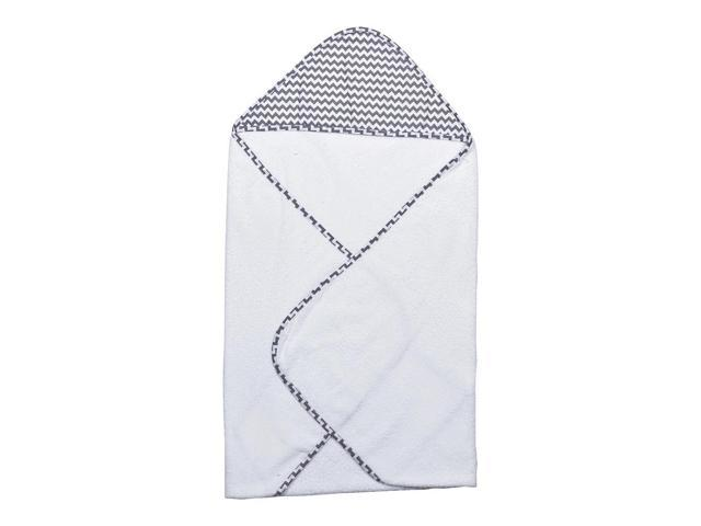 Trend Lab Perfectly Navy- Gray Chevron Hooded Towel