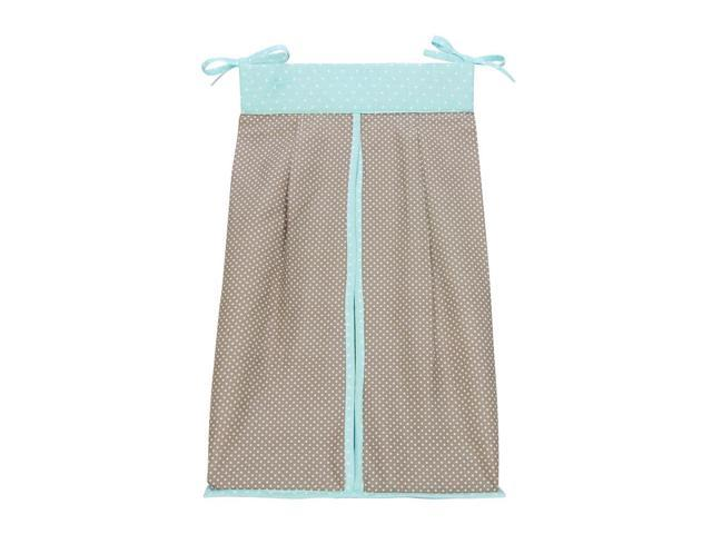 Trend Lab Cocoa Mint Diaper Stacker - Taupe/Mint Green