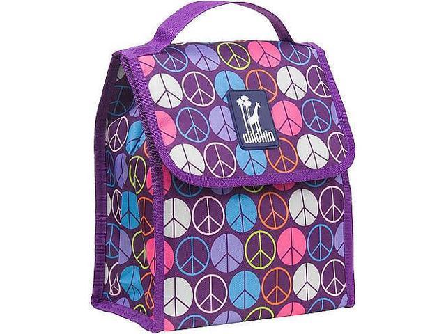 Wildkin Munch 'n Lunch Bag - Purple Peace Signs