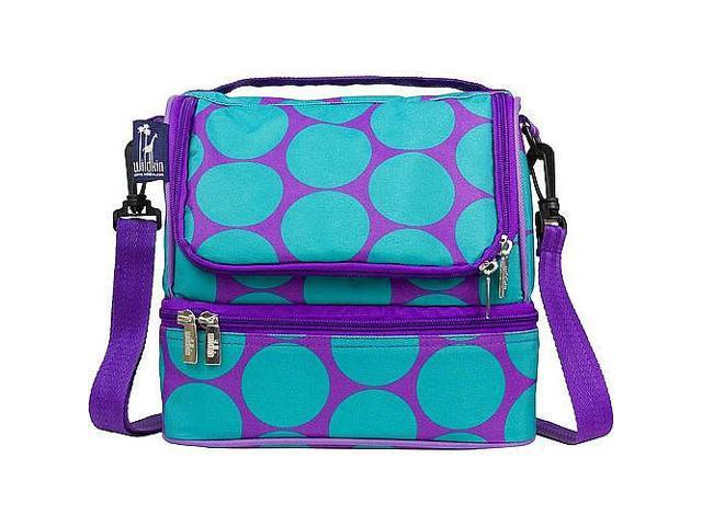 Wildkin Double Decker Lunch Bag - Big Dots Aqua