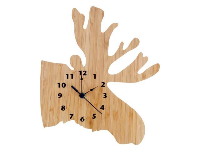 Trend Lab Northwoods Moose Shaped Bamboo Clock