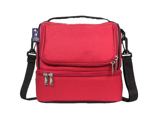 Wildkin Double Decker Lunch Bag - Cardinal Red