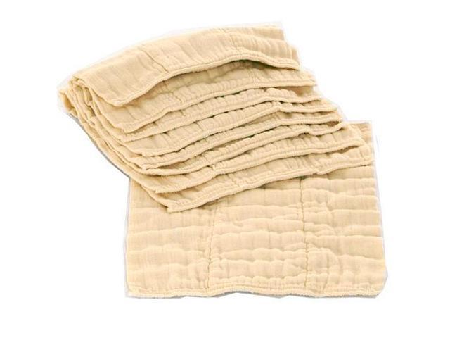 OsoCozy Unbleached Prefold Cloth Diapers - 6 Pack Size 1