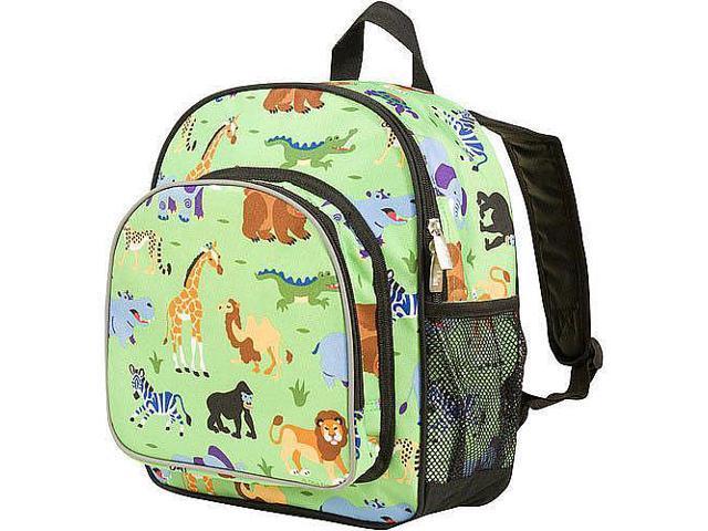 Wildkin Pack 'n Snack Backpack - Olive Kids Wild Animals
