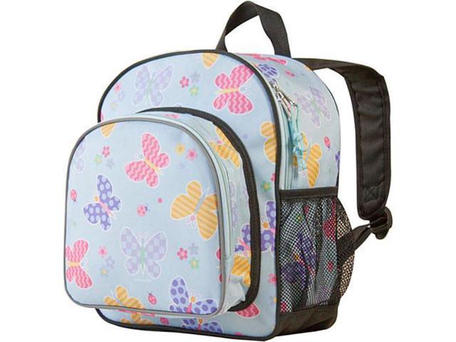 Wildkin Pack 'n Snack Backpack - Olive Kids Butterfly Garden