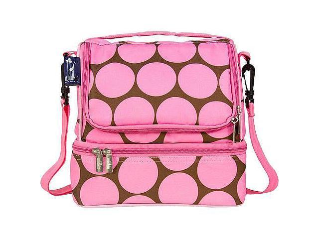Wildkin Double Decker Lunch Bag - Big Dots Pink