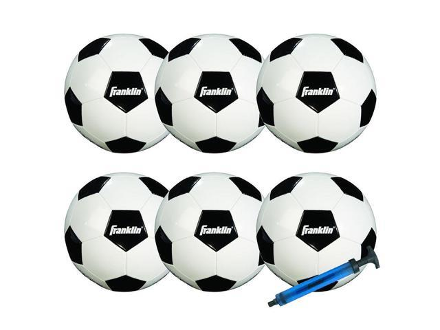 Franklin Sports 6 - Pack Competition Size Soccer Ball With Pump - Size 4