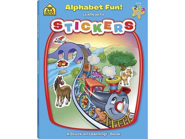 School Zone Alphabet Fun Sticker Workbook