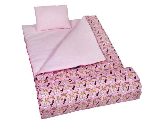 Wildkin Sleeping Bag - Horses Pink
