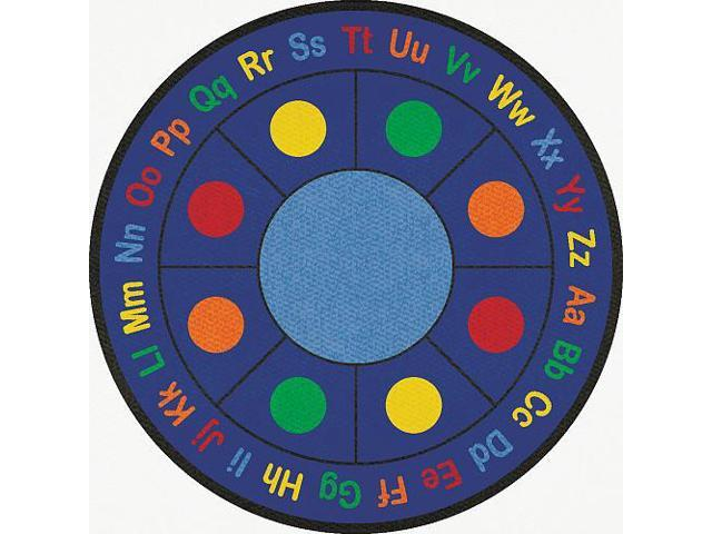 Learning Carpets ABC Dots Round Rug