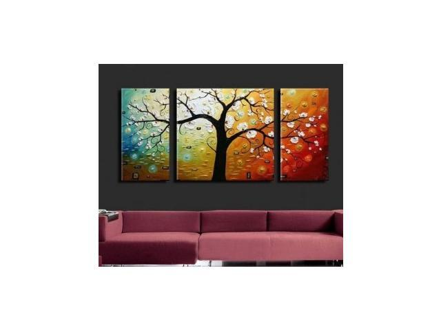 Multi Piece Canvas Wall Art wieco art-3 piece canvas art modern art 100% hand painted oil