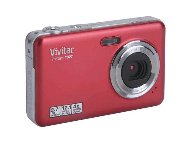 Vivitar Vivicam T027 VT027-RED Red 12 MP 4X Optical Zoom Digital Camera