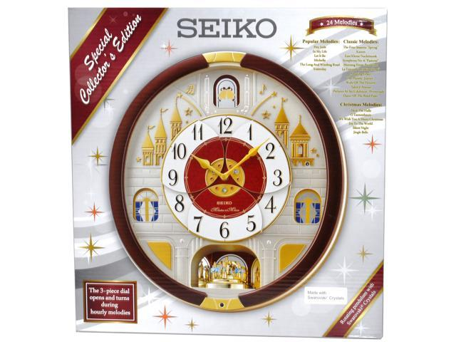 seiko wall clocks india prices special collector edition clock hourly melodies crystals schoolhouse with pendulum qxh110blh
