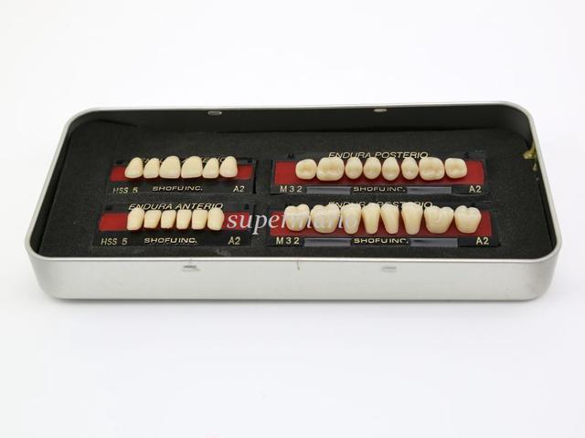 1 box/set new Dental False Tooth Teeth Denture M32 size A2 color 28-pc Teeth