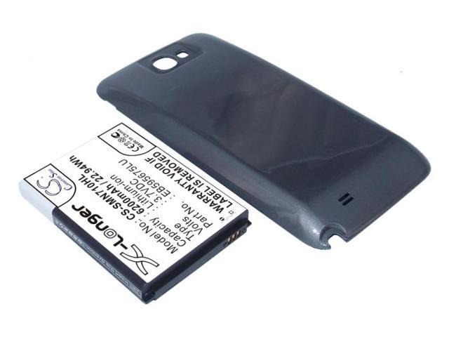 6200mAh Battery For SAMSUNG Galaxy Note 2 Extended With Grey Cover