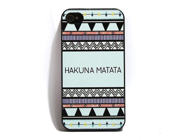 Hakuna Matata Plastic Shell Hard Case Cover Protector for iPhone 4 4s