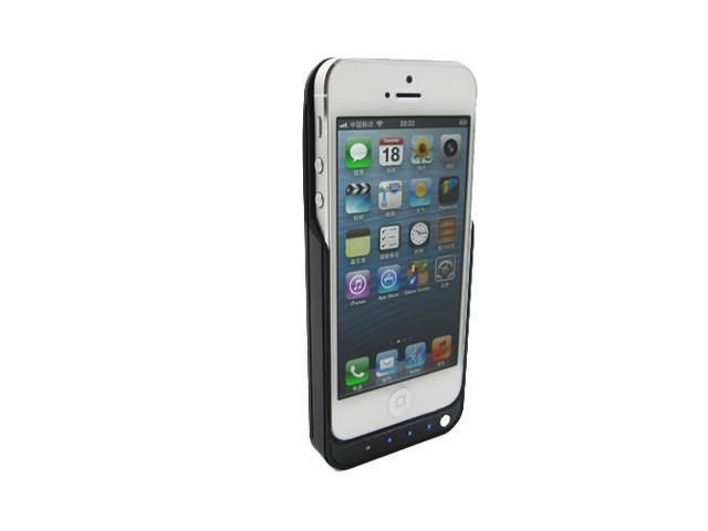 Black Slim 2000mAh Power Pack External Case Charger Backup Battery Apple iPhone5