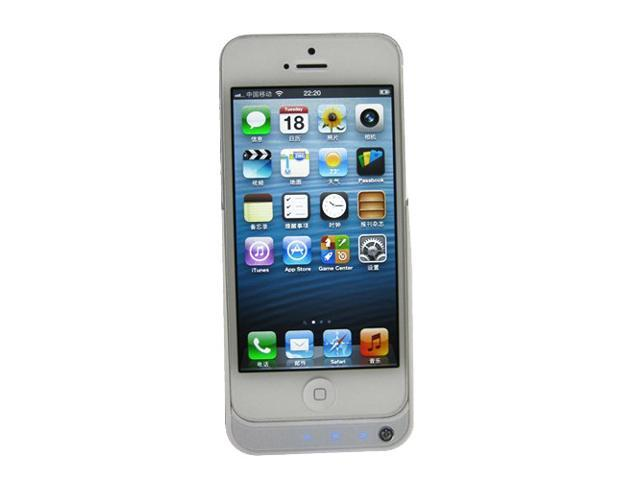 White Slim 2000mAh Power Pack External Case Charger Backup Battery Apple iPhone5