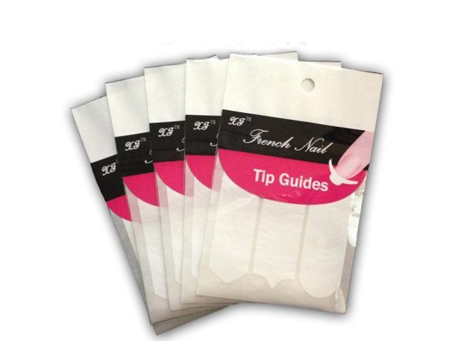 10 x French, Chevron & Teardrop Nail Tip Guides Stickers 3 NEW Styles