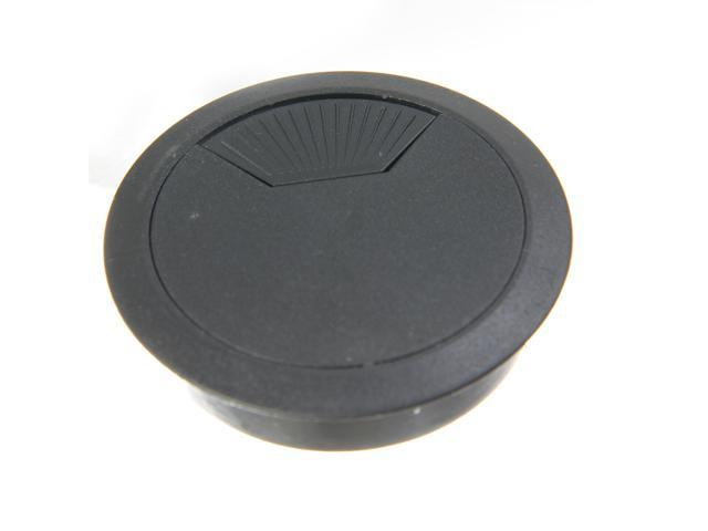 plastic pc computer desk cable grommet hole cover black. Black Bedroom Furniture Sets. Home Design Ideas