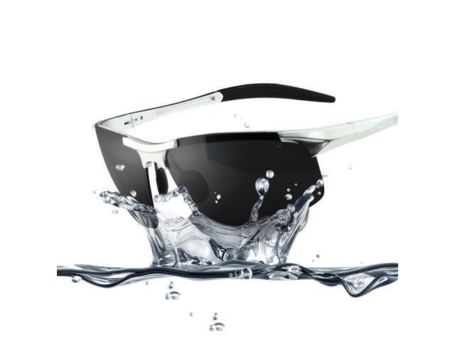 glass lens polarized sunglasses bgp9  Duco 8177S Men's Sports Style Polarized Sunglasses Driver Glasses Silver  Frame Gray Lens
