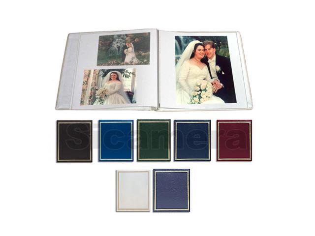 Pioneer PS-5781 Post Bound, Clear Pocket Photo Album with Solid Color Covers, Holds 12-5x7 & 4-8 X 10 Photos - Assorted Colors