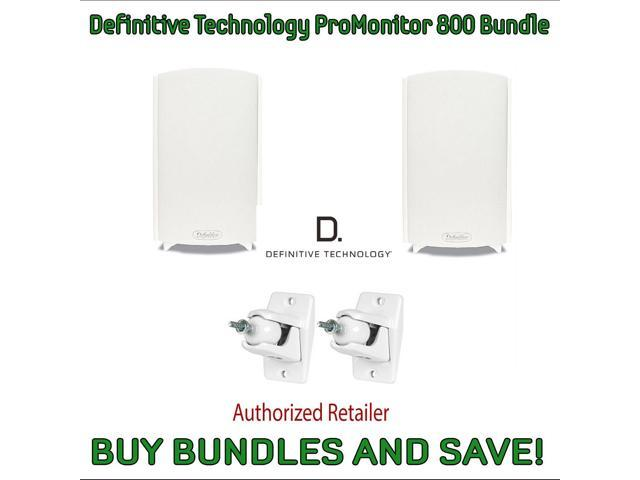 Definitive Technology ProMonitor 800 Bookshelf Speakers (Pair White) & Definitive Technology Pro-Mount 90 - Pair (White)