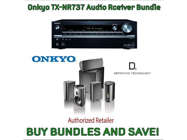 Onkyo TX-NR737 7.2-Channel Network A/V Receiver & Definitive Technology Pro Cinema 800 System Black