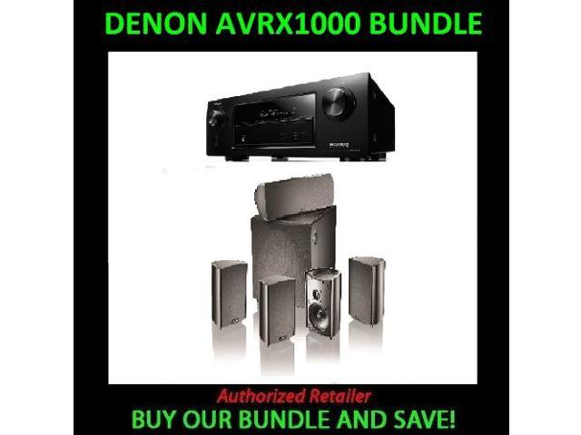 Denon AVR-X1000 In-Command 5.1-Channel Networking Home Theater Receiver with AirPlay and Definitive Technology ProCinema ...