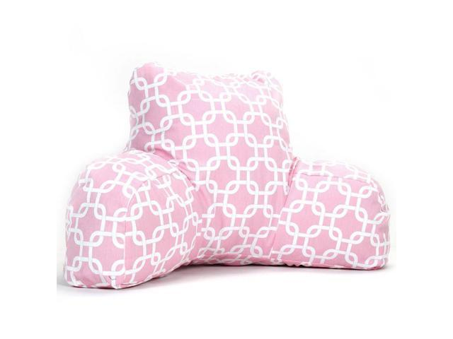 Soft Pink Links Reading Pillow
