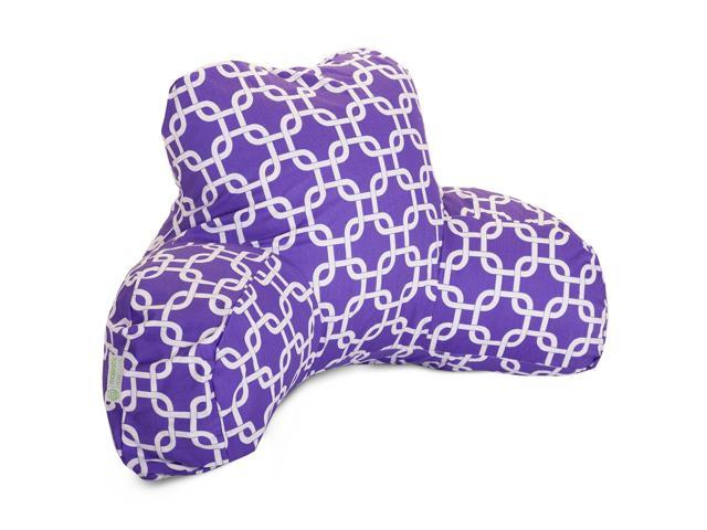 Hot Pink and White French Quarter Reading Pillow