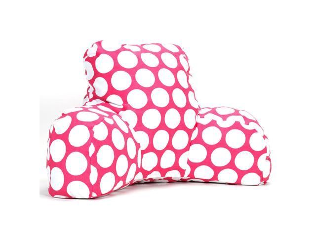 Majestic Home Goods Hot Green Large Polka Dot Reading Pillow