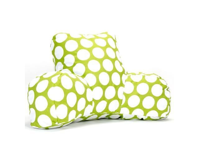 Majestic Home Goods Red Hot Large Polka Dot Reading Pillow
