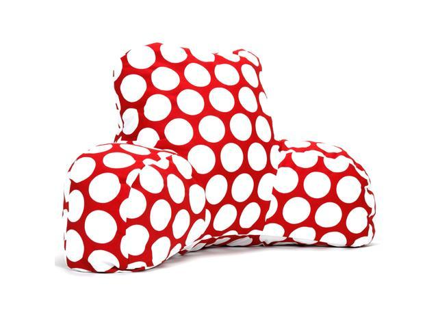 Majestic Home Goods Black Large Polka Dot Reading Pillow