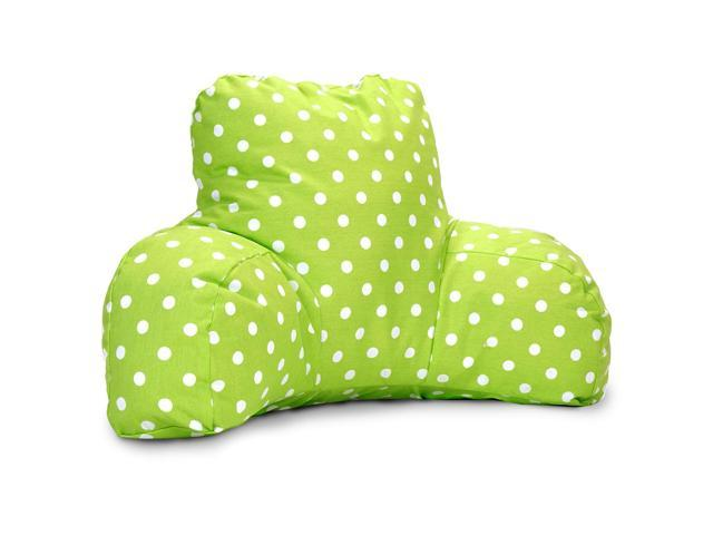 Majestic Home Goods Aquamarine Small Polka Dot Reading Pillow